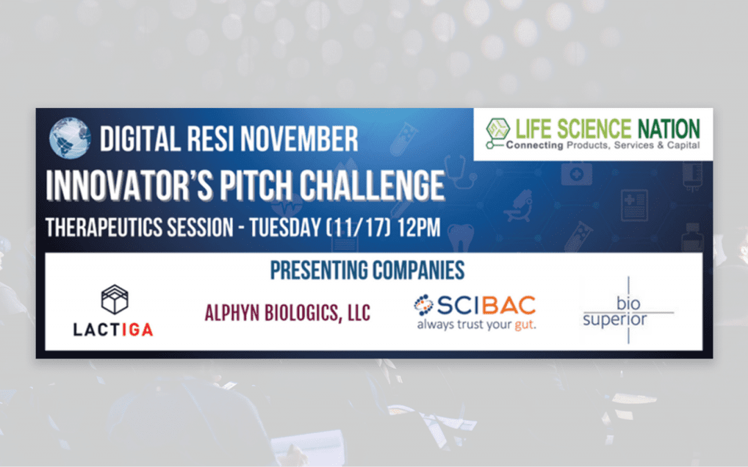 Lactiga selected for the RESI Innovator's Pitch Challenge
